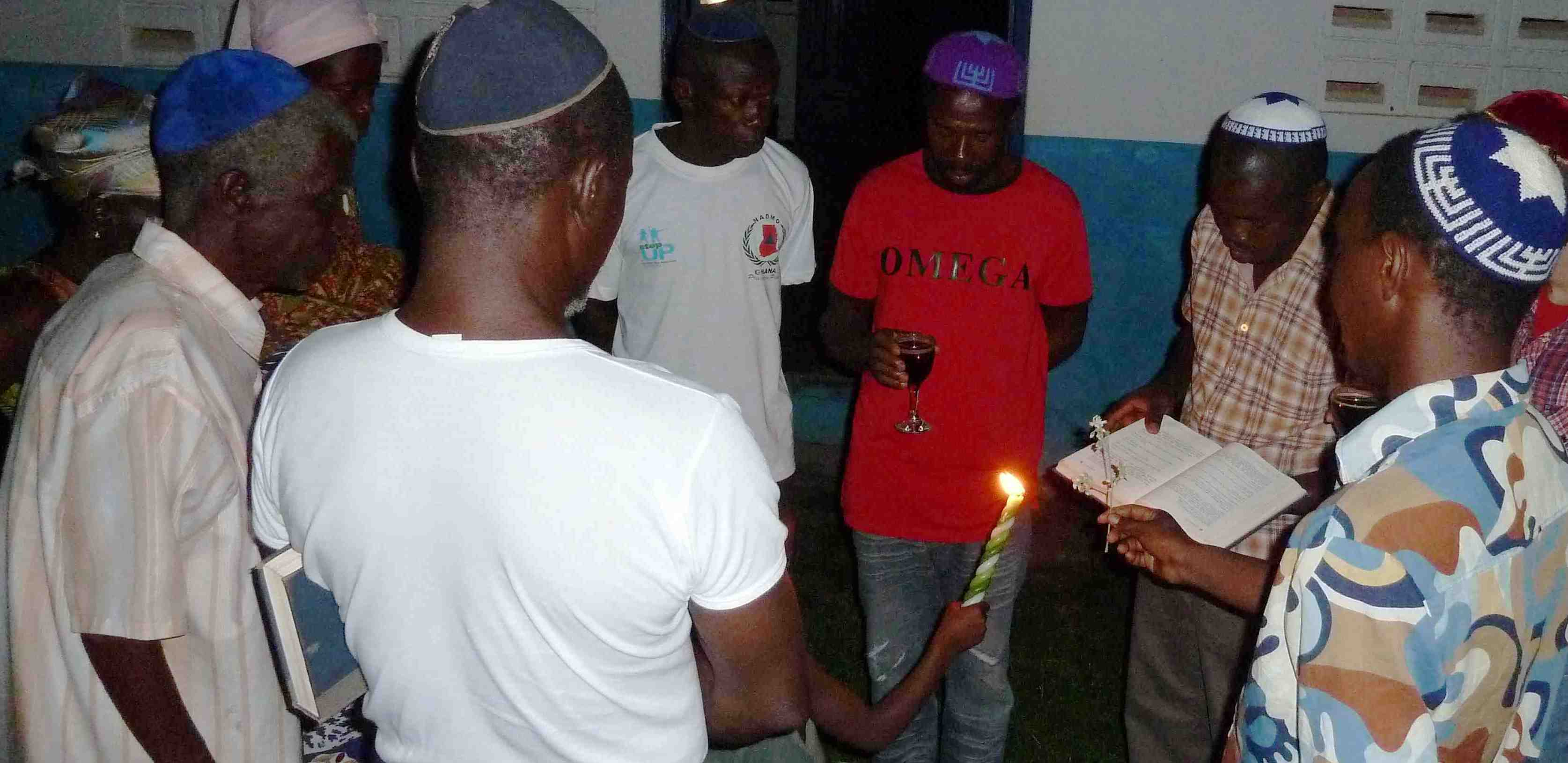 Havdallah with the Sefwi Wiawso community in Ghana. Photo courtesy Ike Swetlitz, June 2013.